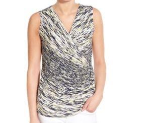 Nic + Zoe Sleeveless V Neck Wrap Knit Layering Top